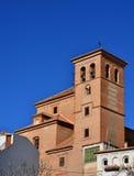 Spanische landwirtschaftliche Kirche Lizenzfreies Stockbild
