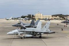 Spanische Luftwaffe Eurofighter stockfotografie