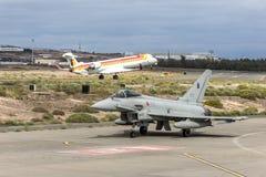 Spanische Luftwaffe Eurofighter Stockfotos