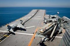 Spanische Marine leitet Marineübungen stockfotos