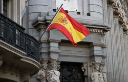 Spanische Markierungsfahne Stockfotografie