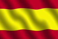 Spanische Markierungsfahne Lizenzfreies Stockfoto