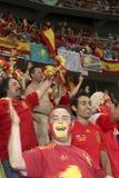 Spanische Nationalmannschaftgebläse stockbild
