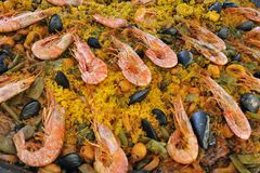 Spanische Paella Stockfotografie