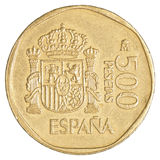 500 spanische Peseta-Münze Lizenzfreie Stockfotos