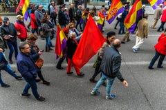 Spanische Republik März - Vigo Lizenzfreie Stockbilder