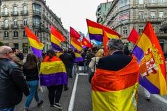 Spanische Republik März - Vigo Lizenzfreie Stockfotografie