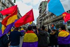 Spanische Republik März - Vigo Lizenzfreie Stockfotos