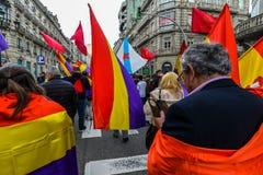 Spanische Republik März - Vigo Stockbild