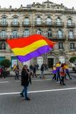 Spanische Republik März - Vigo Lizenzfreies Stockfoto