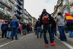 Spanische Republik März - Vigo Stockfotos