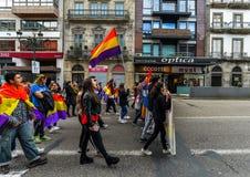 Spanische Republik März - Vigo Lizenzfreies Stockbild
