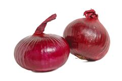 Spanische rote Zwiebel Lizenzfreie Stockfotos