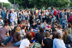 Spanische ruhige Demonstration Stockfoto