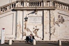 Spanische Schritte in Rom, Italien stockfotos