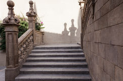 Spanische Stadt (Poble Espanyol) - Architekturmuseum unter dem Offenen Himmel lizenzfreies stockbild