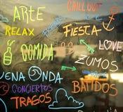 Spanische Strandbar in Spanien Lizenzfreies Stockfoto