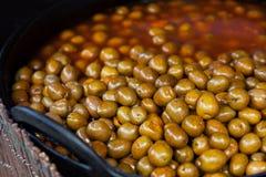 Spanische traditionelle Oliven stockbilder