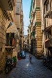 Spanische Viertel oder Quartieri Spagnoli ist ein Stadtteil von Neapel in Italien lizenzfreie stockbilder