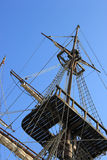 Spanischer galleon Mast Stockfoto
