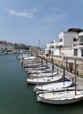 Spanischer menorca Jachthafen Lizenzfreie Stockfotografie