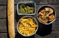 Spanischer Picknicksatz Stockfoto