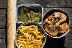 Spanischer Picknicksatz Stockfotografie