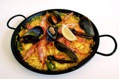Spanischer Reis: Paella Lizenzfreie Stockbilder
