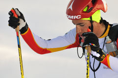 Spanischer Skifahrer Kilian Jornet I Burgada Stockfotos