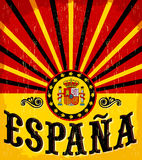Spanischer Text Espana - Spaniens - Weinlesekarte Lizenzfreie Stockfotografie
