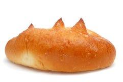 Spanisches bollo suizo, eine Brioche mit Zucker Lizenzfreies Stockfoto