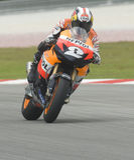 Spanisches Dani Pedrosa Repsol Honda des Teams Lizenzfreie Stockbilder