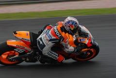 Spanisches Dani Pedrosa Repsol Honda2007 bei Polini MA Lizenzfreie Stockbilder