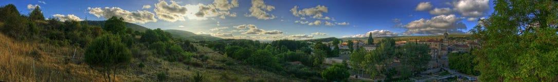 Spanisches Dorf-panoramische Landschaft II Lizenzfreie Stockfotografie