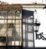 Spanisches Fenster in den weißen Dörfern Stockfotos