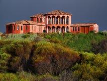 Spanisches Haus - nach Regen Stockfotos