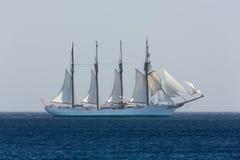Spanisches Marineschulschiff J.S. de ElCano stockfotos