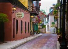 Spanisches Militär-Straßen-St. Augustine Florida Hospitla Aviles Stockfoto