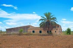 Spanisches mittelalterliches Landhaus Stockfotos