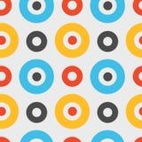 Spanisches nahtloses Muster der klaren Kreise Stockfotos