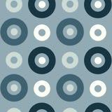 Spanisches nahtloses Muster der klaren Kreise Stockfoto