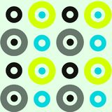Spanisches nahtloses Muster der klaren Kreise Lizenzfreie Stockbilder