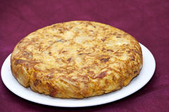 Spanisches Omelett Stockfotos