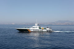 Spanisches Polizeiboot Lizenzfreie Stockbilder