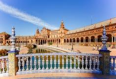Spanisches Quadrat u. x28; Plaza de Espana& x29; in Sevilla Spanien Lizenzfreies Stockfoto