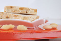 Spanisches turron Stockfotos