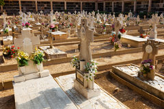 Spanish �hristianity gravesite Stock Photography