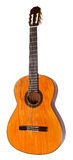 Spanish Acoustic Guitar Isolated On White Stock Photos