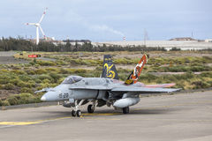 Spanish Air Force Eurofighter Royalty Free Stock Images