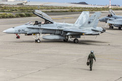 Spanish Air Force Eurofighter Royalty Free Stock Photography